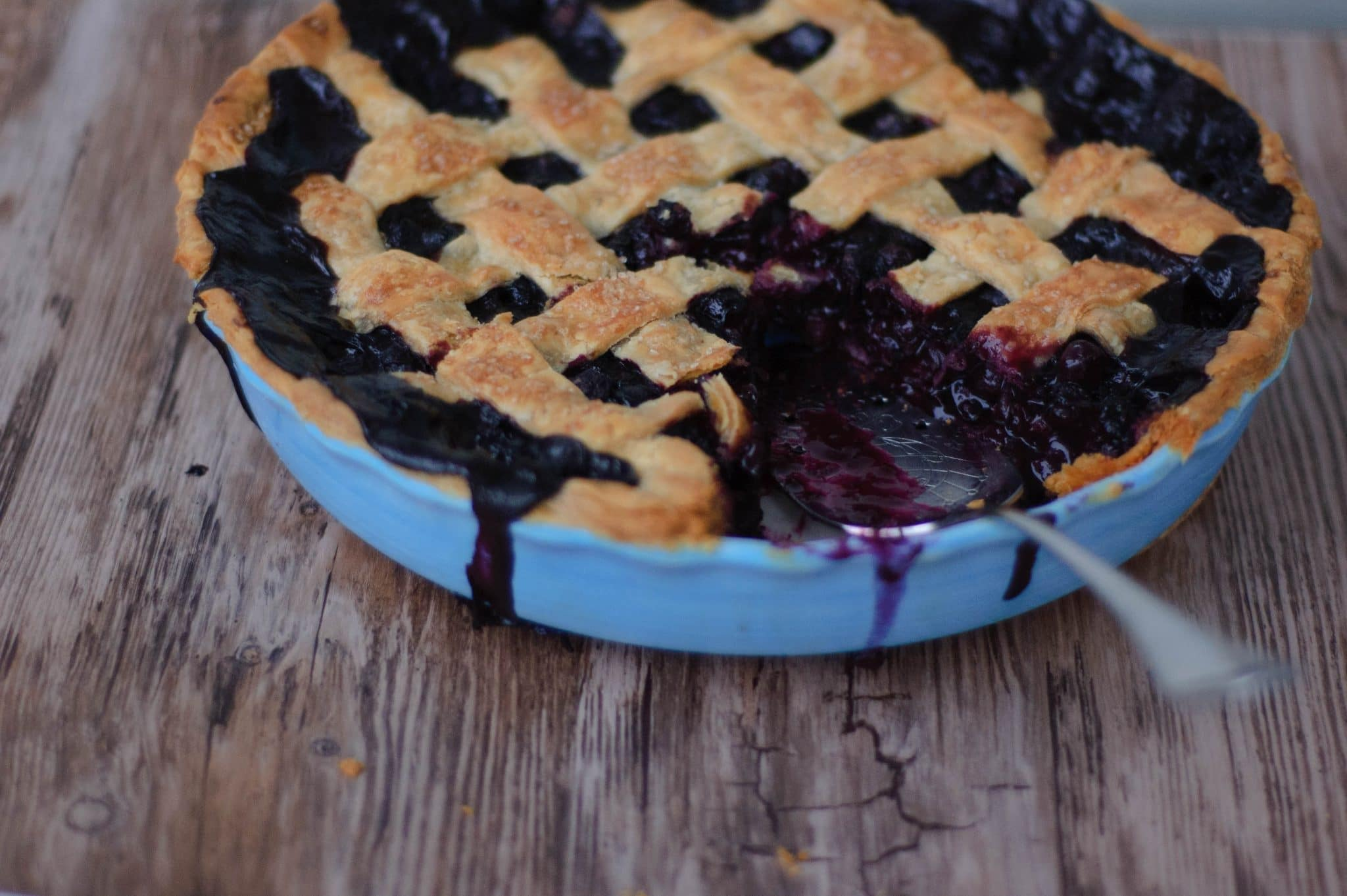 Spiced Blueberry Pie with a Cardamom Crust