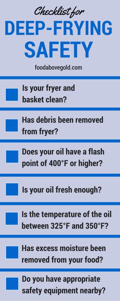 deep frying safety checklist