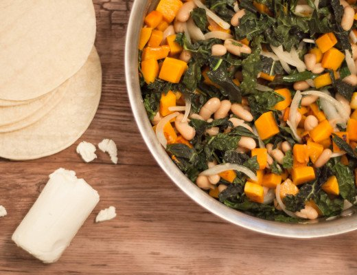 Try this recipe for pumpkin tacos for your next taco night. It is sure to surprise your friends and your tastebuds with delicious flavors and goat cheese!