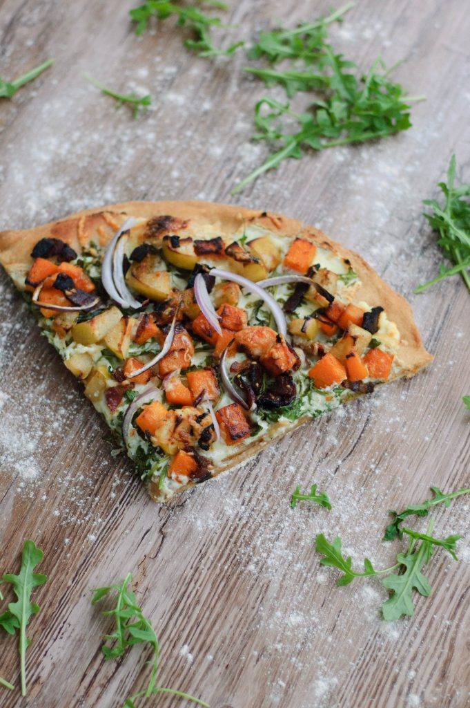 This Pumpkin and Apple Pizza with Bacon puts an autumnal twist on pizza night. A perfect balance of sweet and salty, it will have you coming back for more.