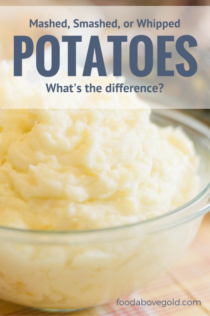Close up of a heaping bowl of mashed potatoes.