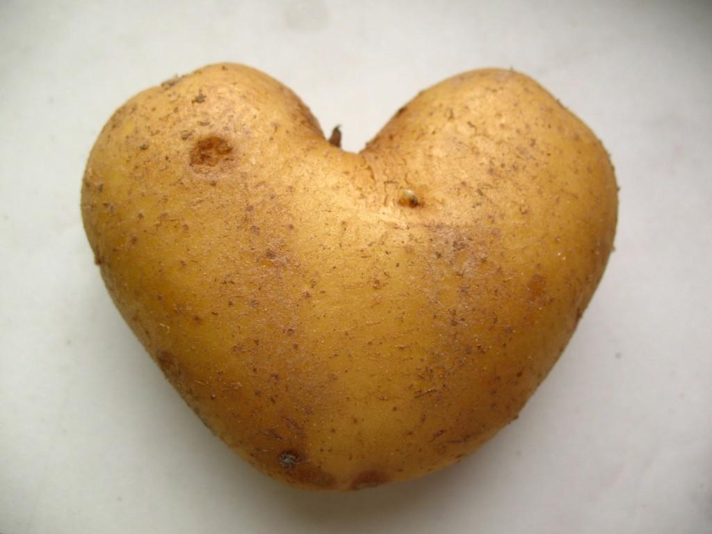 A heart shaped potato.
