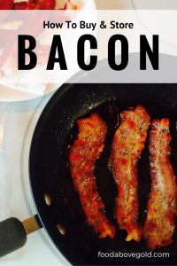 Learn how to decipher the packaging of bacon and what to look for when buying it.  Also, tips for how to store bacon in the fridge and freezer for later.