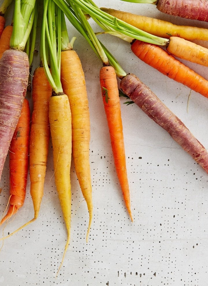 rainbow carrots spread out