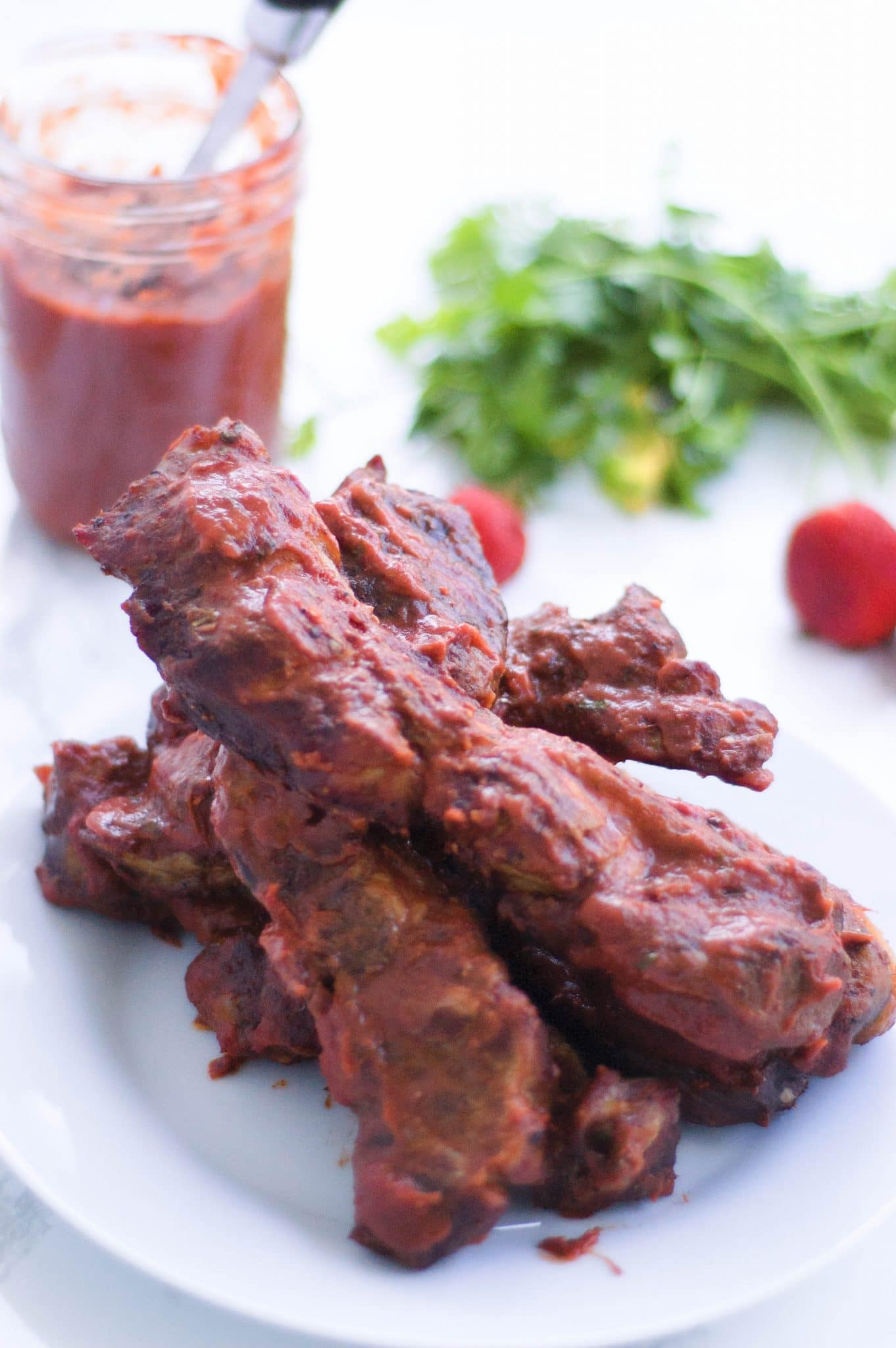 This recipe for Strawberry-Chipotle BBQ Spare Ribs is sure to tantalize your taste buds and get you out of your barbecue rut. It's perfectly sweet & spicy.