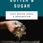 A hand lifting dough out of a clear bowl with title text about how to cream butter and sugar above it.
