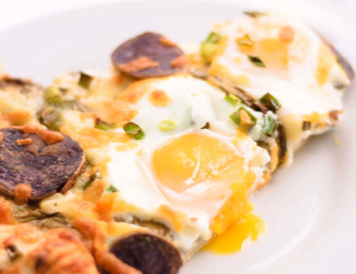 This Sorrel & Duck-Fat Fried Purple Potato Breakfast Pizza is easy to make ahead and so delicious you'll look forward to waking up in the morning.