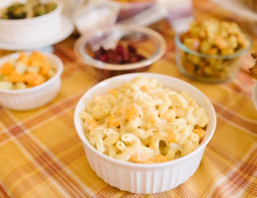 This Creamy Macaroni and Cheese with Butternut Squash is a perfectly cheesy and creamy side dish for your Thanksgiving table. With a sweet hint from the roasted butternut squash, this is a delicious way to serve macaroni and cheese even outside of the holidays.