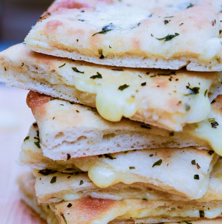a stack of gourmet grilled cheese