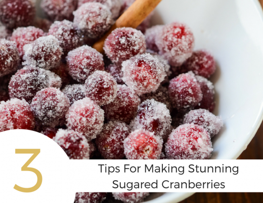 Use these three tips for how to make stunning sugared cranberries and get a beautiful snack, garnish, or decoration for your next holiday get together.