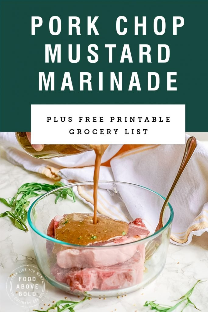 Pork Chop Marinade Of Many Mustards - A Quick and Easy