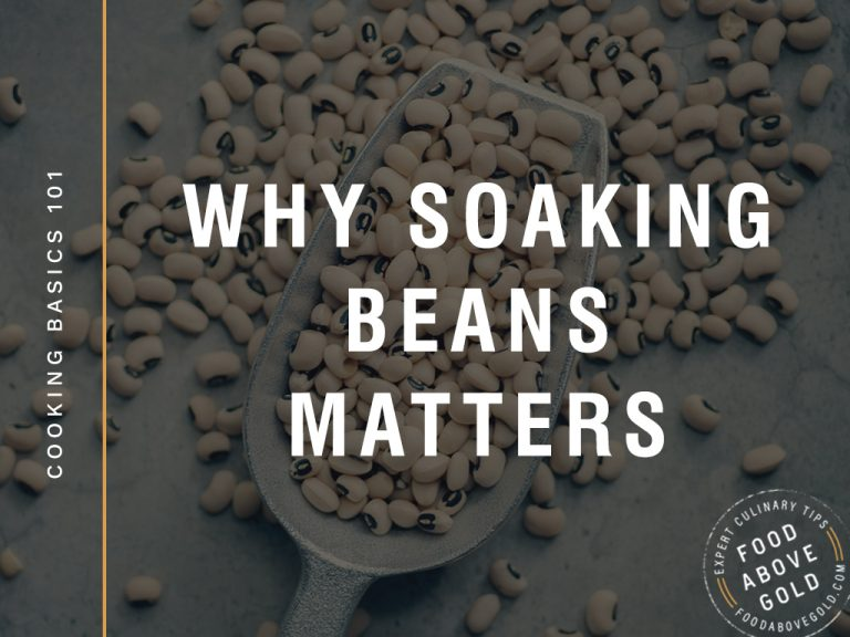 "Title text ""why soaking beans matters"" over a black background"
