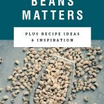 """Title text """"Why soaking beans matters"""" above an image of a silver scoop filled with dried beans"""