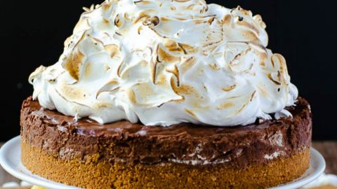 Sky High Toasted S'mores Pie