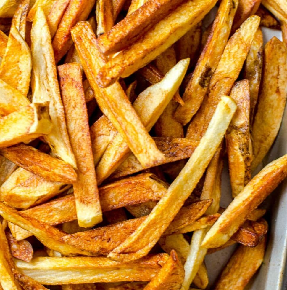 Homemade French Fries Without Double Frying Food Above Gold