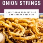 "Purple text box saying ""french fried onion strings"" with picture of them below."